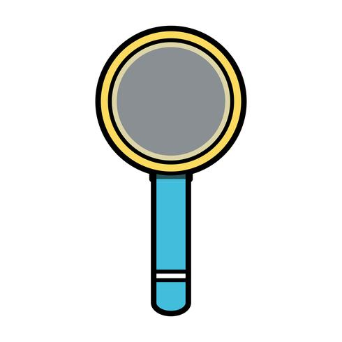 magnifying glass tool object design vector