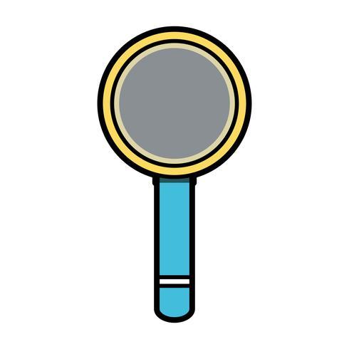vergrootglas gereedschap object ontwerp vector