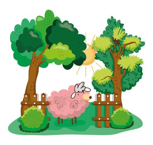Dibujos animados hermosa granja