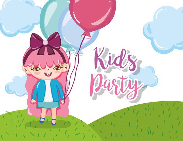 Kinderfeest cartoons