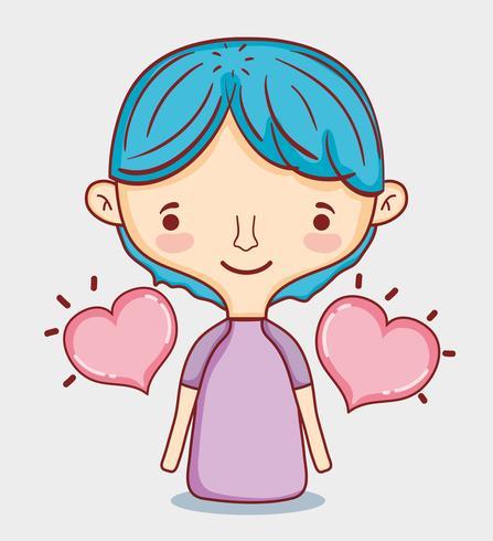 Kinder und Liebeskarikaturen vektor