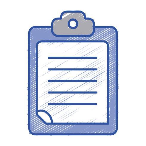 controllare la lista dei documenti aziendali nel disegno negli Appunti vettore