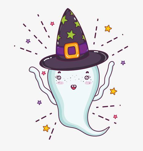 Cartone animato di halloween fantasma carino