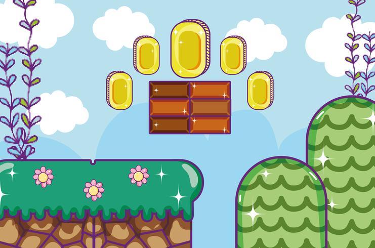Pixelated retro videogameachtergrond