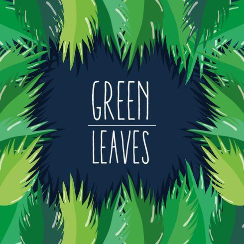 Grün lässt Karikatur vektor