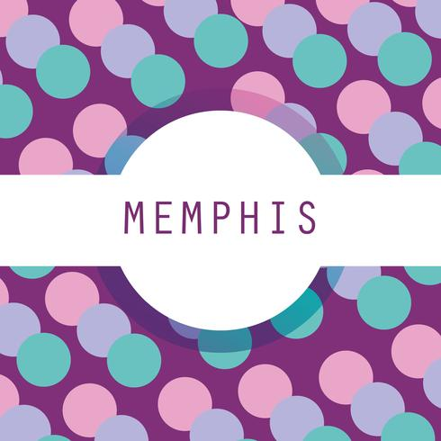 Memphis template and background