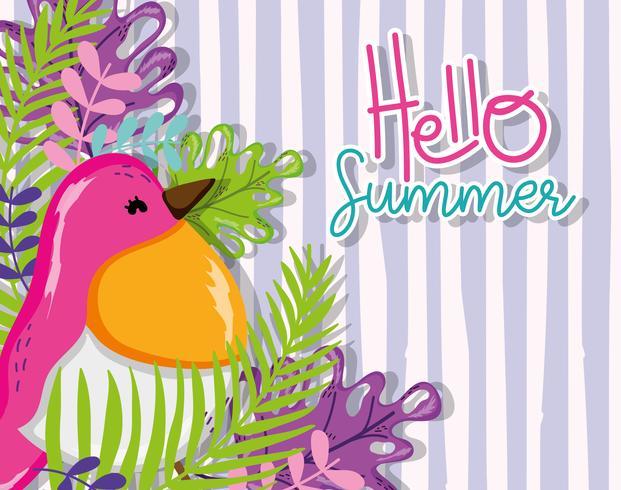 Hallo Sommerkarte vektor