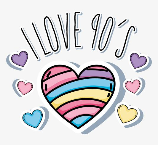 I love 90s cartoons vector