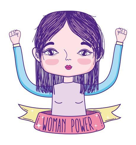 Fumetto della ragazza di potere della donna