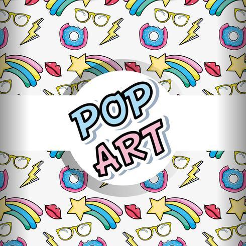 Dibujos animados de fondo de arte pop