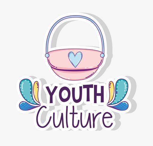 Dibujos animados de cultura juvenil vector