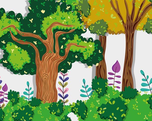 Schöne Waldlandschaft