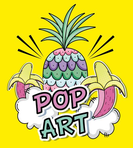 Concetto di cartoni animati pop art