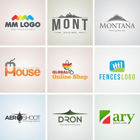 Creatieve bedrijfslogo ontwerpsjabloon set