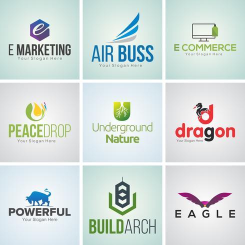 Creative Corporate Logo Design Template Set