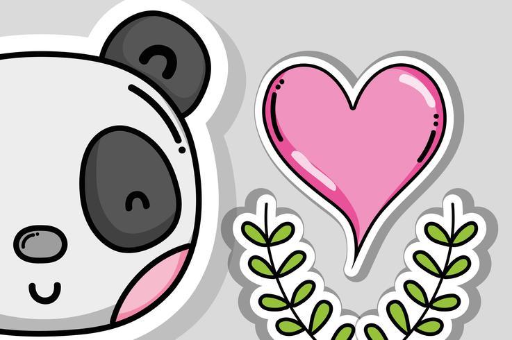 Niños y caricaturas de amor.