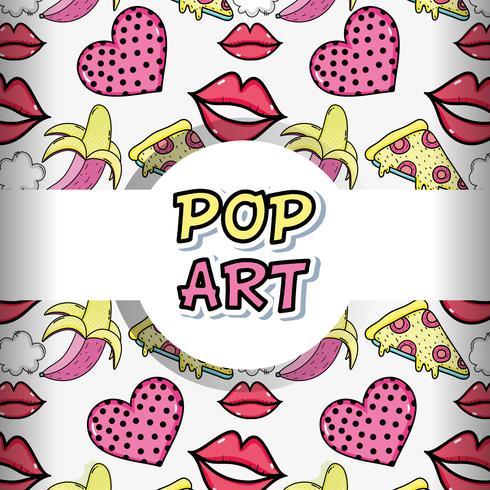 Cartoni animati di sfondo pop art