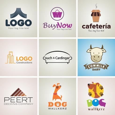 Ensemble de modèles de création de logo d'entreprise créative