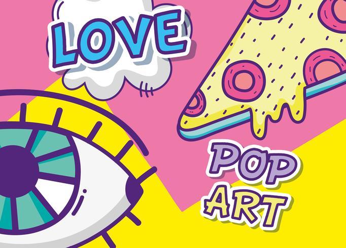 Desenhos animados engraçados de pop art