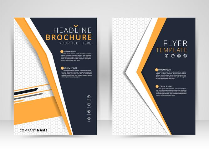 Omslagontwerp jaarverslag, vectormalplaatjebrochures, vliegers, presentaties, Folderdekking, Abstracte vlakke achtergrond, lay-out in A4 grootte