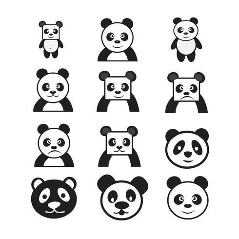 Icono de personaje de dibujos animados panda.