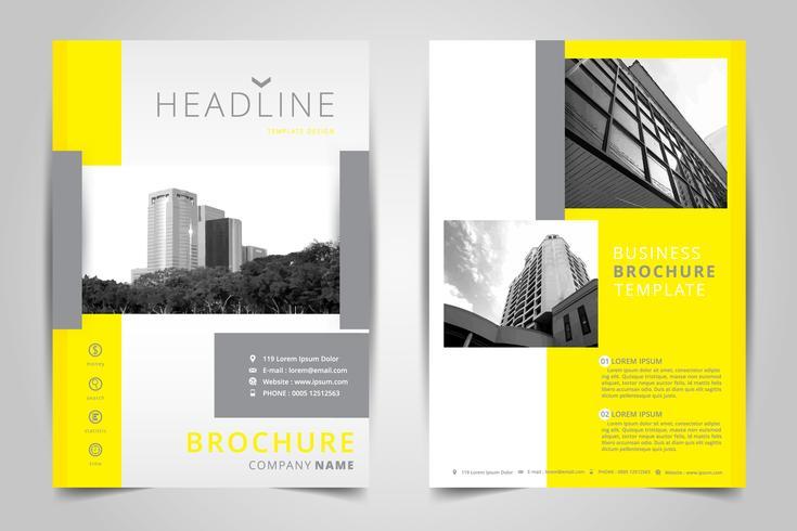 Cover ontwerp jaarverslag, vector sjabloon brochures, flyer, presentaties, Leaflet cover, abstracte vlakke achtergrond, gebouw, lay-out in A4-formaat