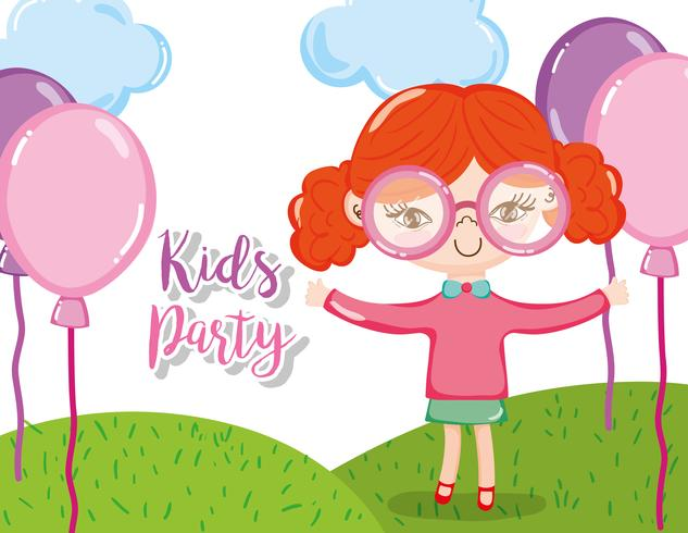 Kinderfeest cartoons vector