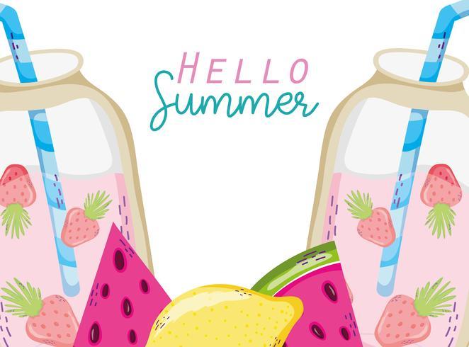 Hola caricaturas de verano