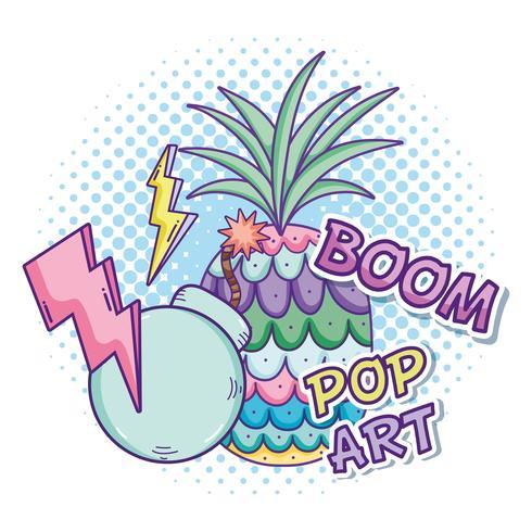 Dibujos animados de arte pop