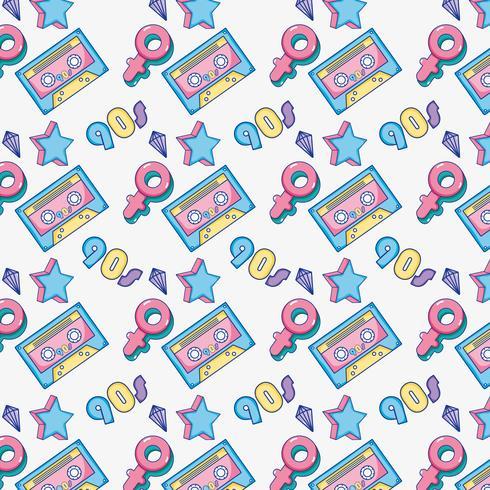 Pop-art achtergrond vector