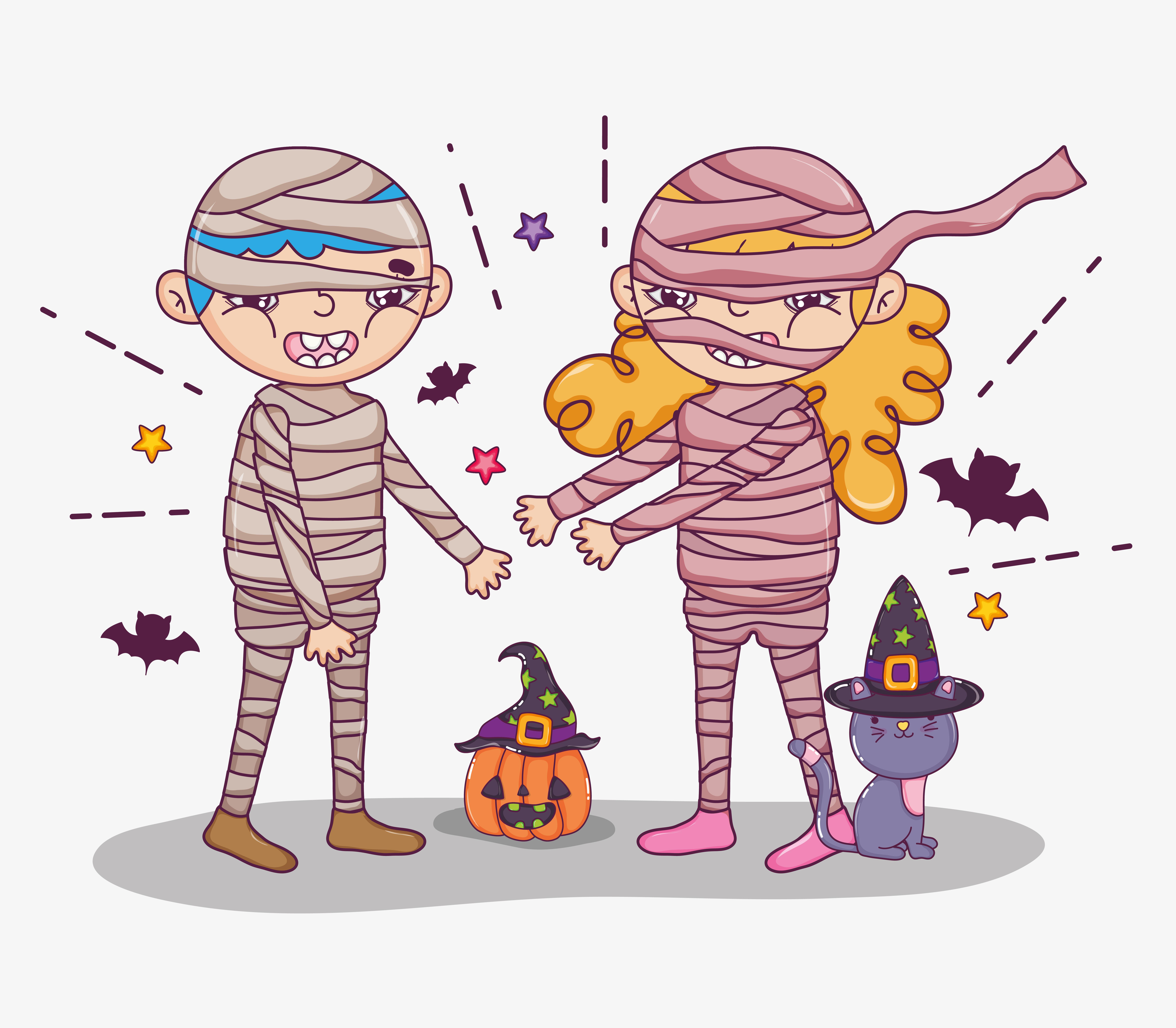 Halloween and kids cartoons - Download Free Vectors ...
