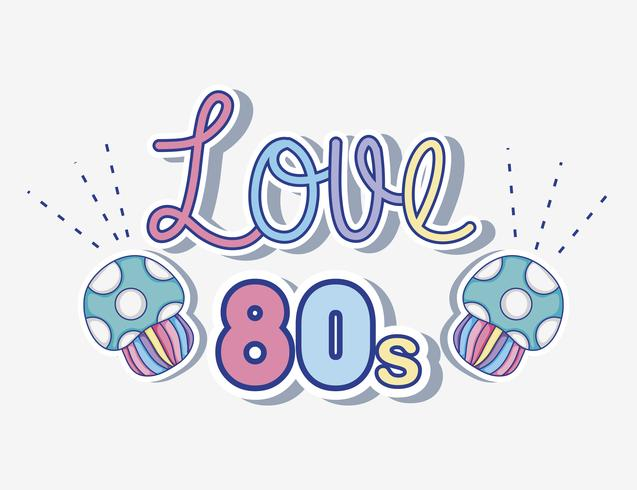 I love 80s cartoons vector