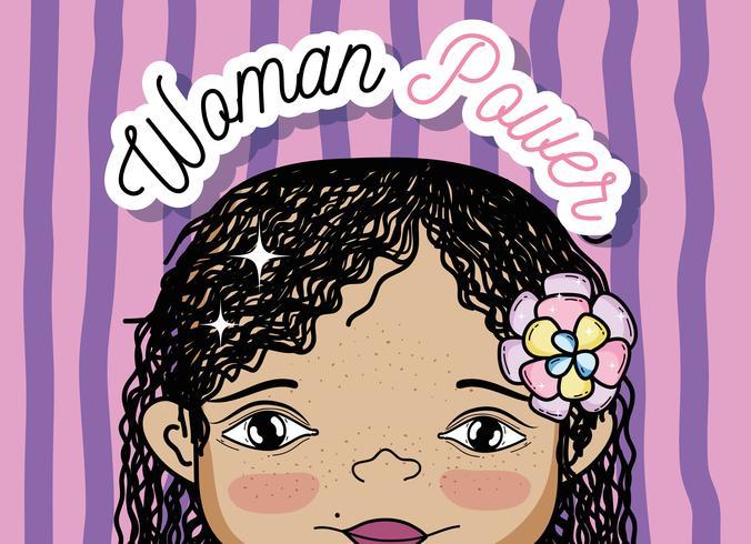 Frauenpower-Mädchenkarikatur