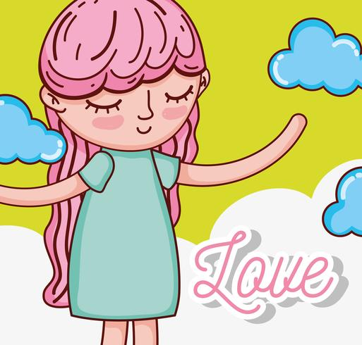 Crianças e desenhos de amor