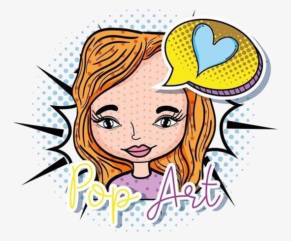 Cartone animato pop art
