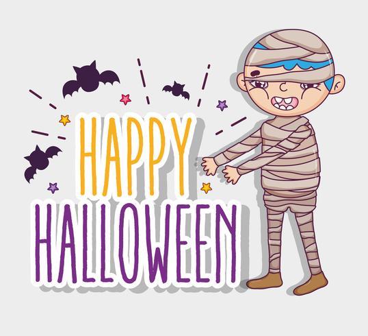 Dibujos animados de halloween feliz