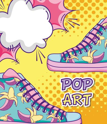 Cartoni animati divertenti pop art