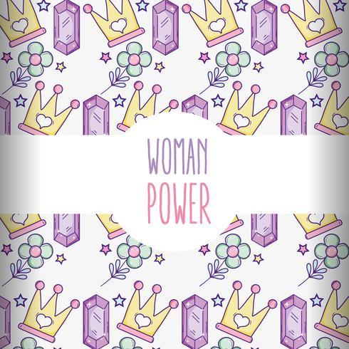 Vrouw machtspatroon achtergrond