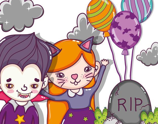 Halloween und Kinder Cartoons