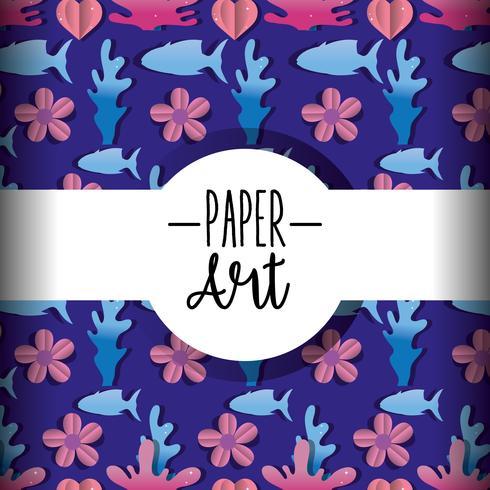 Paper art background