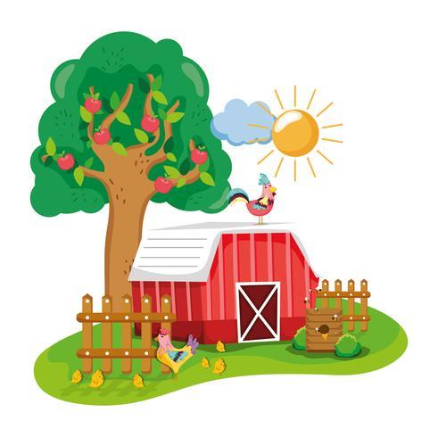 Cartone animato bella fattoria