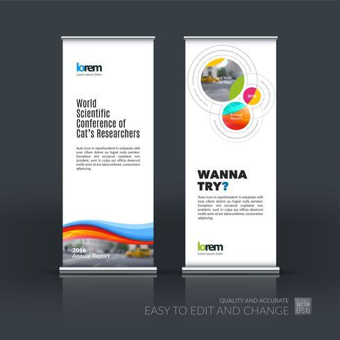 Conjunto de vector de negocio abstracto de moderno roll Up Banner stand