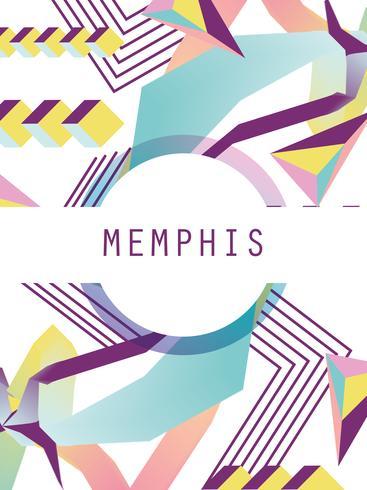 Plantilla y fondo de Memphis