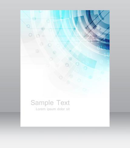 Sjabloon voor abstract zakelijke flyer of corporate banner. Ontwerp voor afdrukken, publiceren of presenteren, bewerkbare vectorontwerp met plaats voor uw inhoud of creatieve bewerking