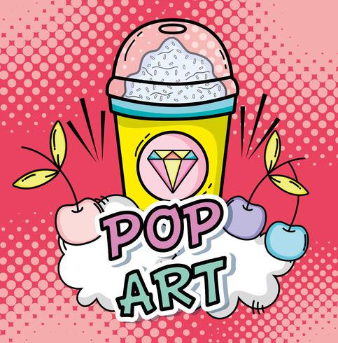 Pop-Art-Cartoons-Konzept