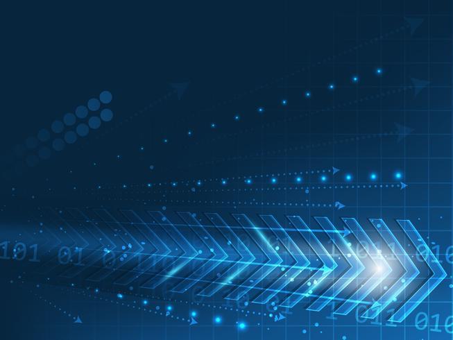 Vectortechnologie abstracte achtergrond met pijl