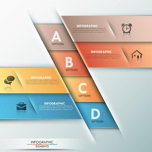 Bannière d'options infographie moderne.