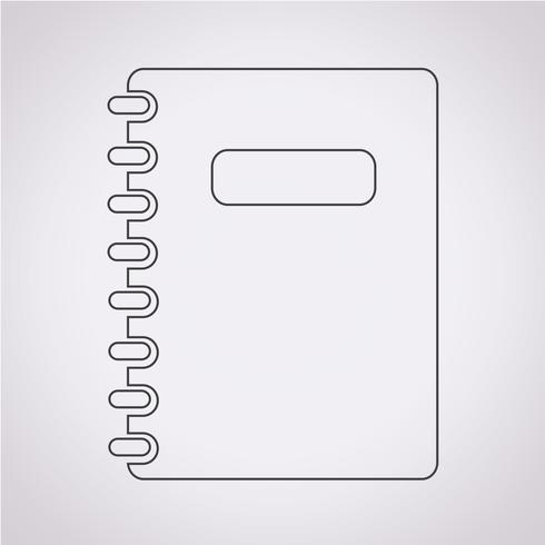 notebook pictogram symbool teken