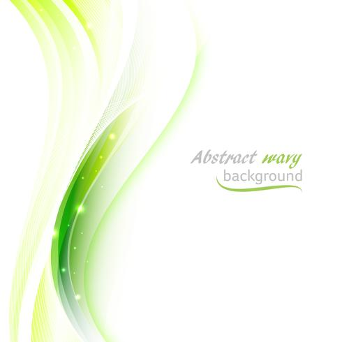 Abstract vector background with transparent green wavy lines.