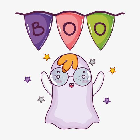 Leuke ghost halloween cartoon